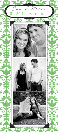 Save the Date Card with photo - Wedding Damask