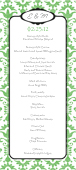 Program - Wedding Damask