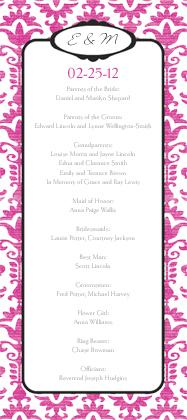 Program - Wedding Damask