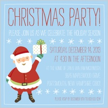 Holiday Party Invitations - jolly christmas
