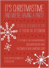 Holiday Party Invitations - jolly snowflakes