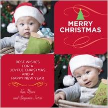 Christmas Cards - christmas four square
