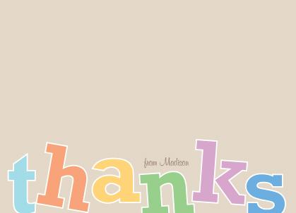 Thank You - Rainbow Thanks