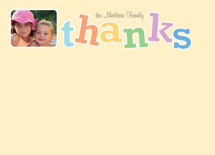 Thank You - Rainbow Thanks with Photo