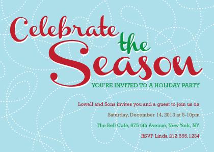 Holiday Party Invitations - Celebrate the Season