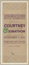 Wedding Invitation - modern rustic type