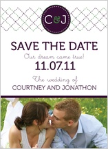 Save the Date Card with photo - modern rustic type