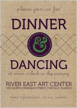 Reception Card - modern rustic type