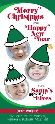 Christmas Cards - Three Secret Elves