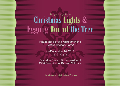 Holiday Party Invitations - PeaceLoveHappiness