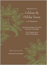 Holiday Party Invitations - chocolate floral