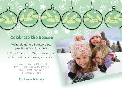 Holiday Party Invitations - Warmth & Wonder