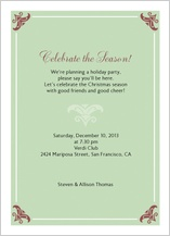 Holiday Party Invitations - warmest greetings