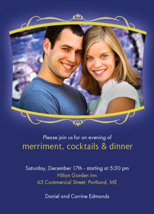 Holiday Party Invitations - Peace&Love