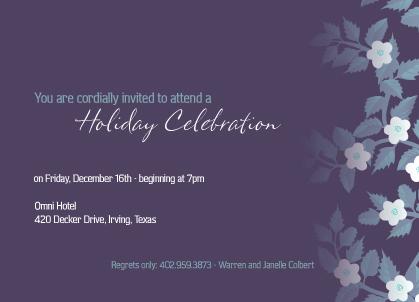 Holiday Party Invitations - Cherish the Gift