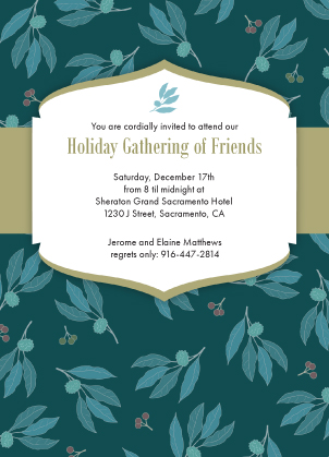 Holiday Party Invitations - Holiday Happiness