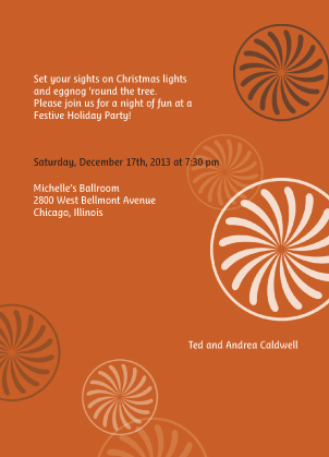Holiday Party Invitations - Holiday Cheer!
