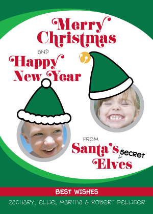 Christmas Cards - Two Secret Elves