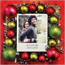 Christmas Cards - polaroid wreath