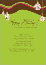 Holiday Party Invitations - colorful holiday party