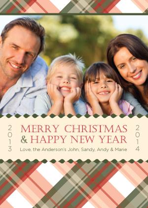 Christmas Cards - Festive Plaid