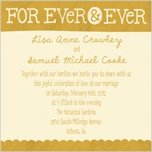Wedding Invitation - love & happiness
