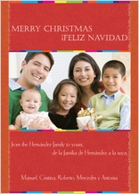Christmas Cards - feliz navidad vertical