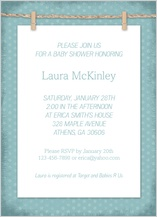 Baby Shower Invitation - baby clothesline