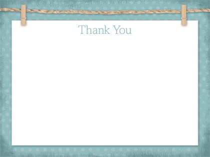 Baby Thank You Card - Baby Clothesline