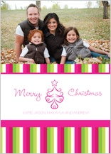 Christmas Cards - holiday stripes