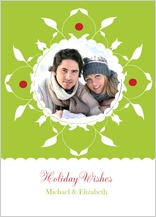 Holiday Cards - holiay wishes wreath