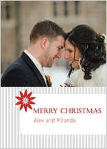 Christmas Cards - pinstripe christmas
