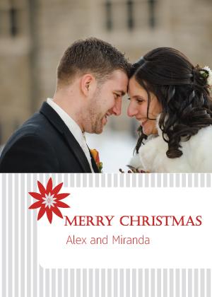 Christmas Cards - Pinstripe Christmas