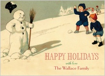 Christmas Cards - happy snowman