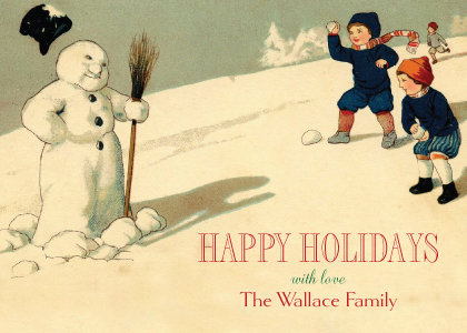 Christmas Cards - Happy Snowman