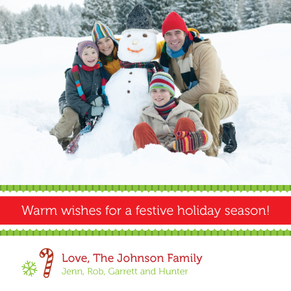 Holiday Cards - Warm Christmas Wishes