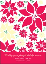 Holiday Cards - colored poinsettia