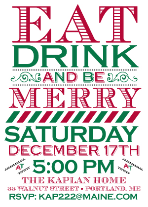 Holiday Party Invitations - Be Merry
