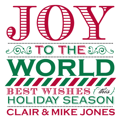 Holiday Cards - Joy To The World