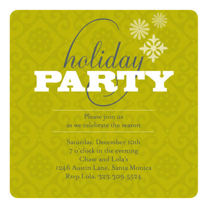 Holiday Party Invitations - Patterned Holiday