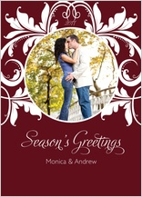 Holiday Cards - season's greetings holly berry