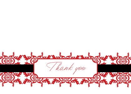 Thank You - Damask Thank you
