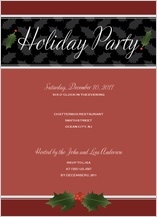 Holiday Party Invitations - holly party