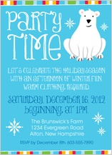 Holiday Party Invitations - polar bear