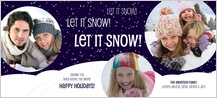 Holiday Cards - let it snow!