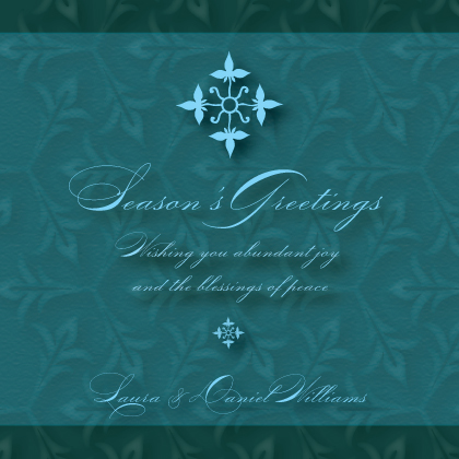 Holiday Cards - Christmas Fleur-de-lis