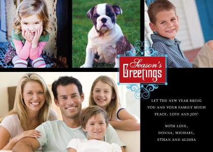Christmas Cards - Season's Greetings Medallion
