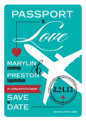 Save the Date Card - Destination Bliss