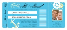 Wedding Invitation - all aboard