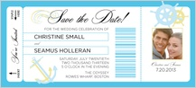 Save the Date Card with photo - all aboard